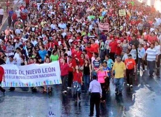 marcha de maestros nl