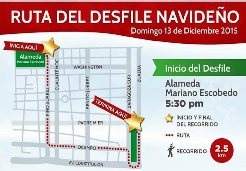ruta de desfile navideño