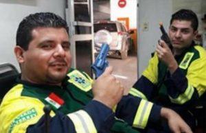 paramédicos de la Cruz Verde